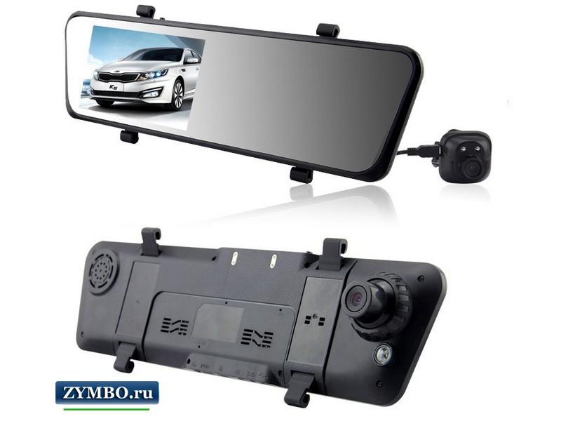 Видеорегистратор-зеркало с камерой заднего вида