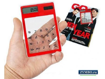 Прозрачный сенсорный калькулятор