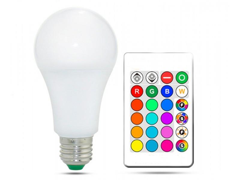 RGB лампа с пультом дистанционного управления