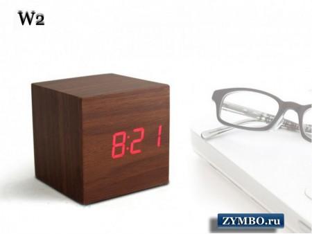 """Настольные часы со светящимися цифрами """"Кубик"""""""