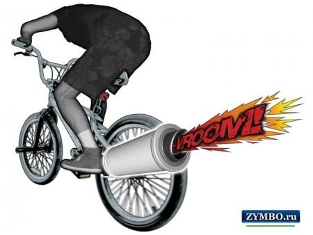 Turbospoke - выхлопная труба на велосипед