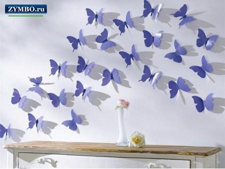 """3D наклейки на стену """"Бабочки"""""""