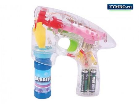 Пистолет для мыльных пузырей на батарейках