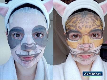 Маска для лица в виде животных