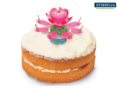 """Свечи для торта """"Музыкальный цветок"""""""