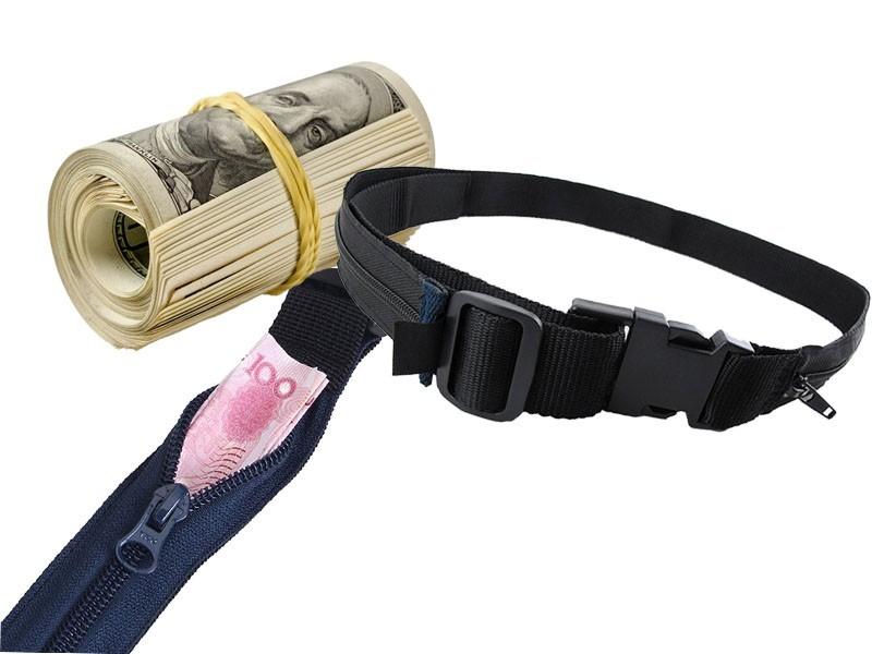 Ремень с карманом для денег