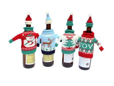 Новогодний декор бутылки
