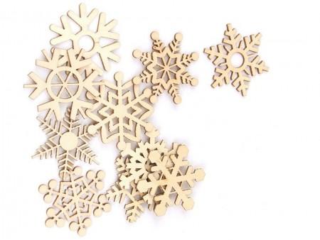 Деревянные снежинки