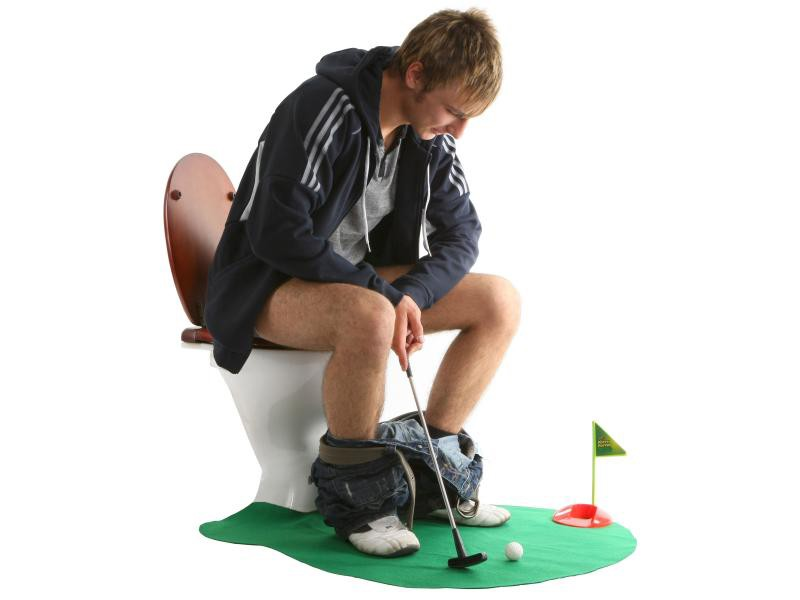 Гольф для туалета