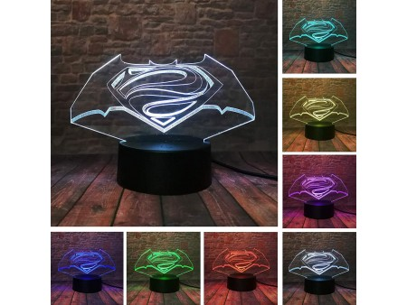 """3D лампа-светильник """"Logo Batman"""""""