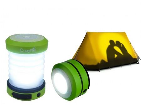 Складной кемпинговый фонарь на солнечной батарее