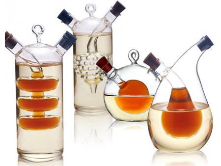 Двойная бутылка для подсолнечного и оливкового масла
